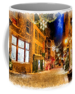 Winter Carnival Old Quebec City Lower Town Coffee Mug