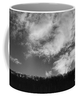 Winter Clouds Over The Delaware River Coffee Mug