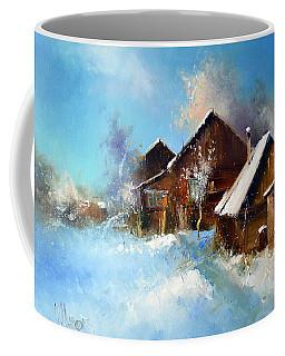Winter Cortyard Coffee Mug