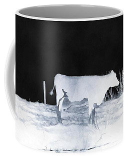 Coffee Mug featuring the photograph Winter Cow - Cow by Janine Riley