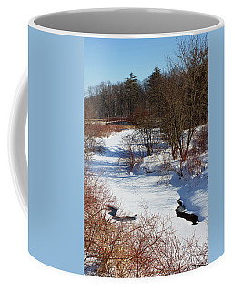 Coffee Mug featuring the photograph Winter Creek Lined With Red Osea Dogwood by Barbara McMahon