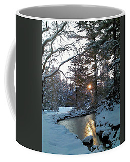Coffee Mug featuring the photograph Winter Creek by Melinda Blackman