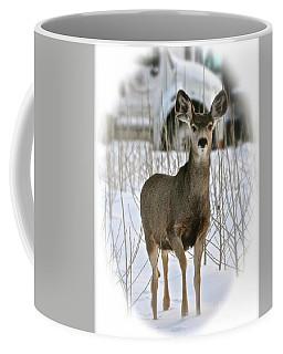 Winter Deer On The Tree Farm Coffee Mug