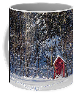 Coffee Mug featuring the photograph Winter, Down East Maine  by Trace Kittrell
