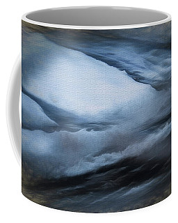 Coffee Mug featuring the photograph Winter Driveway Abstract by Tom Singleton