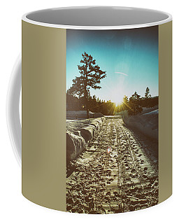 Coffee Mug featuring the photograph Winter Driveway Sunset by Jason Coward