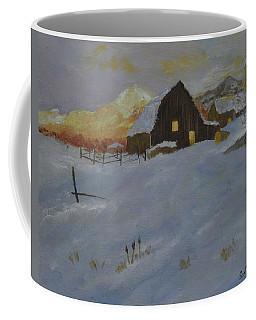 Winter Dusk On The Farm Coffee Mug