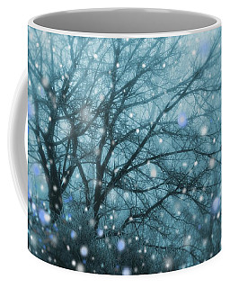 Winter Evening Snowfall Coffee Mug