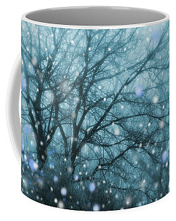 Winter Evening Snowfall Coffee Mug