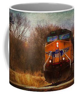 Winter Evening Union Pacific Train Coffee Mug