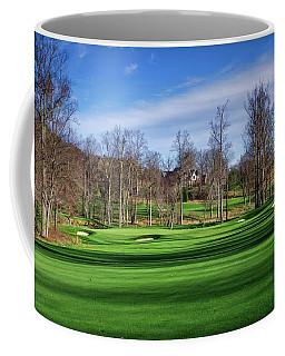 Winter Fairway Shadows Coffee Mug