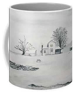 Winter Farm 2 Coffee Mug by Christine Lathrop