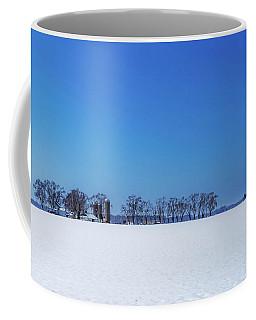 Winter Farm Blue Sky Coffee Mug