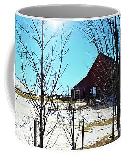 Winter Farm House Coffee Mug