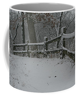 Winter Fence Trail H Coffee Mug
