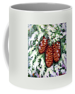 Winter Fir Cones Coffee Mug