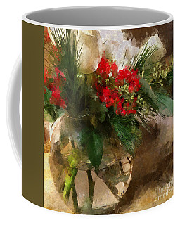 Winter Flowers In Glass Vase Coffee Mug