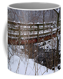 Winter Footbridge Coffee Mug