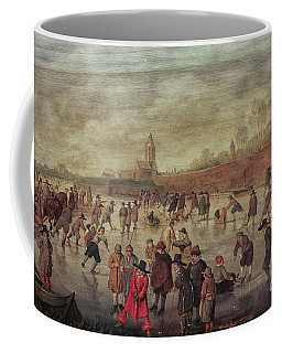 Coffee Mug featuring the photograph Winter Fun Painting By Barend Avercamp by Patricia Hofmeester