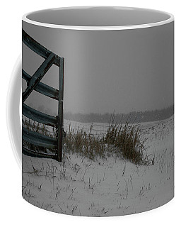 Coffee Mug featuring the photograph Winter Gate by Dylan Punke