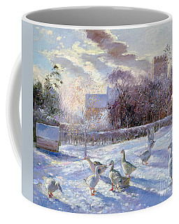 Winter Geese In Church Meadow Coffee Mug