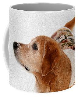 Winter Girl Painted Portrait Coffee Mug