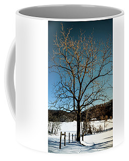 Coffee Mug featuring the photograph Winter Glow by Karen Wiles