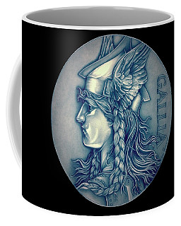 Winter Goddess Of Gaul Coffee Mug by Fred Larucci