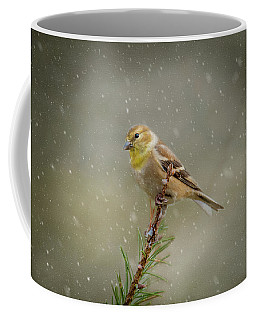 Winter Goldfinch Coffee Mug