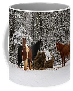 Winter Horses Coffee Mug
