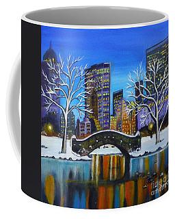 Winter In New York- Night Landscape Coffee Mug