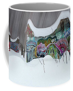 Coffee Mug featuring the photograph Winter In The Skatepark No 1 by Wayne King