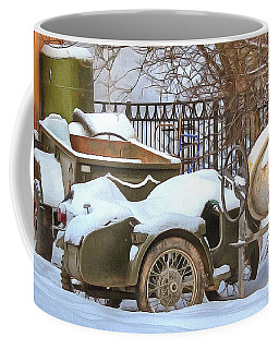 winter in the village Russian Coffee Mug
