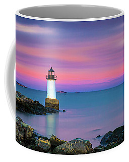 Coffee Mug featuring the photograph Winter Island Light 1 by Brian Hale