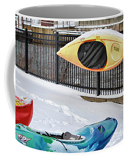 Winter Kayaking  Coffee Mug