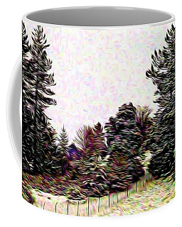 Winter Landscape 1 In Abstract Coffee Mug