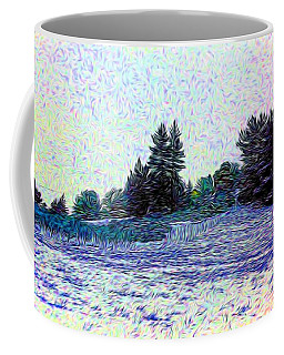 Winter Landscape 2 In Abstract Coffee Mug