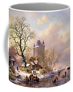 Winter Landscape With Castle Coffee Mug