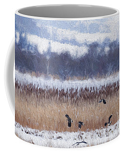 Winter Lapwings Coffee Mug
