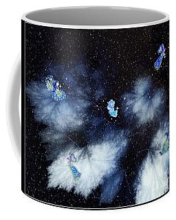 Winter Leaves And Fairies Coffee Mug
