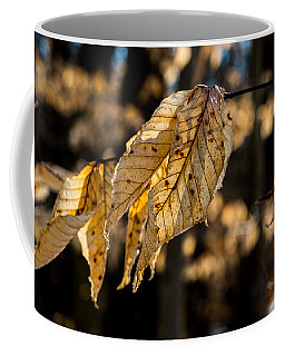 Winter Leaves Left Coffee Mug