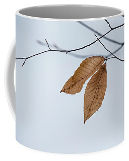 Coffee Mug featuring the photograph Winter Leaves by Tom Singleton