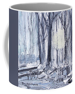 Coffee Mug featuring the painting Winter Light by Robin Maria Pedrero