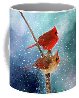 Coffee Mug featuring the photograph Winter Love by Darren Fisher