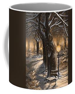 Coffee Mug featuring the painting Winter Magic by Veronica Minozzi