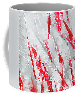 Winter Moods 1 - Cardinal Red And Icy Gray Nature Abstract Coffee Mug