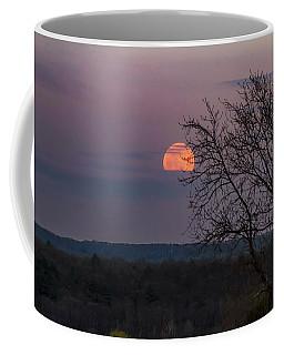 Coffee Mug featuring the photograph Winter Moonrise by Sven Kielhorn