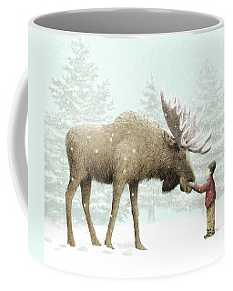 Winter Moose Coffee Mug