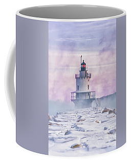 Winter Morning At Spring Point Ledge Coffee Mug