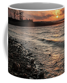 Winter Morning At The Vetran's Lake Coffee Mug by Iris Greenwell